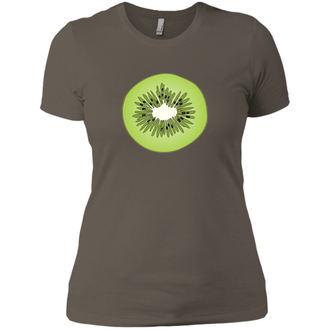 Slice Of Kiwi Fun Ladies' T-Shirt For Fruit Lovers