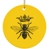 Vintage Style Queen Bee Ceramic Ornament