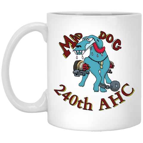 Mad Dog White Mug For Veterans