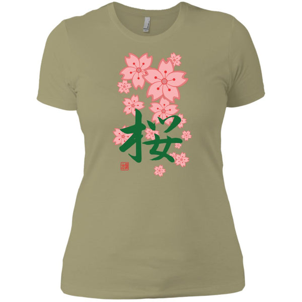 Sakura Ladies' Short Sleeve Cherry Blossom T-Shirt