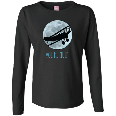 Vol De Nuit Long Sleeve Ladies' T-Shirt For French Literature Lovers