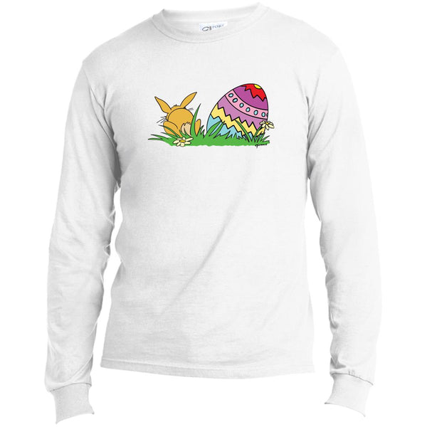Easter Egg And Bunny Long Sleeve Man's T-Shirt