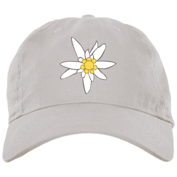 Embroidered Oktoberfest Edelweiss Flower Unstructured Cotton Cap