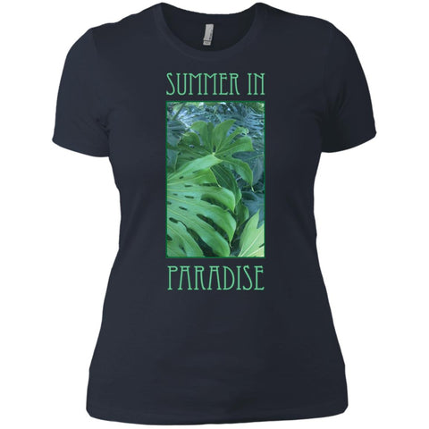 Summer In Paradise Tropical Foliage Ladies' T-Shirt