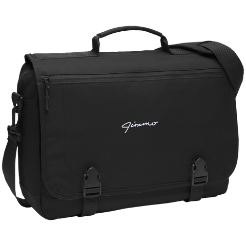 Jimmo Signature Embroidered Messenger Briefcase