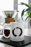 Jimmo Designs original Ensō Mug. Great gift for Zen practitioners, Zen masters, calligraphers, admirers of the minimalist Zen art and Japanese aesthetics, and all lovers of understated beauty, wisdom and tranquility.