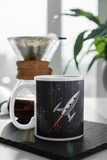 Space Age Nostalgia Limited Edition Space Rocket Jimmo Signature Mug. Here's a chance to own this Space Age nostalgia mug decorated with original art by Jimmo! This is a must have for any Space Ranger to take along in quests into the great unknown. Or to work, if that's your thing.