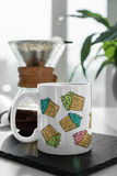 Mini Cupcakes Mug featuring original artwork by Jimmo Designs. Great gift for gourmets, gourmands, hobby bakers, pastry chefs, and cupcake lovers of any age.