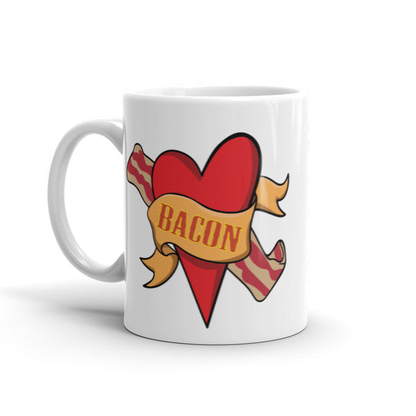 Bacon Heart - Mug For Bacon Lovers