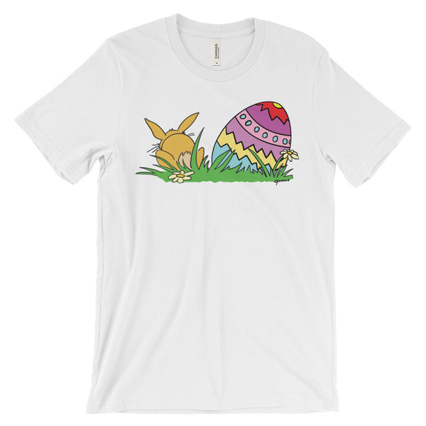 Easter Bunny And Colorful Easter Egg - Unisex Short Sleeve T-Shirt