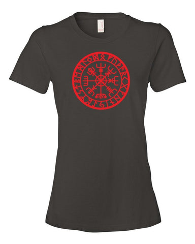 Icelandic Vegvisir Ladies' Short Sleeve T-Shirt