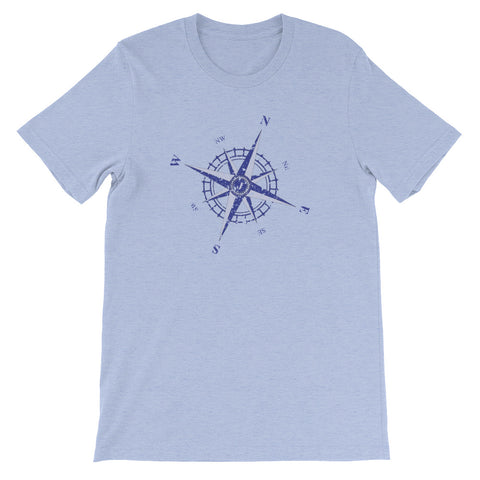Weathered Compass Rose Nautical Short-Sleeve T-Shirt (Unisex)