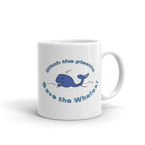 Jimmo Designs original Ditch The Plastic - Environmental Awareness Mug. Planetary consciousness and environmental consciousness are characteristic of a modern, urban, hipster society. Zero waste, organic products, love of nature take center place in lives of many concerned individuals.
