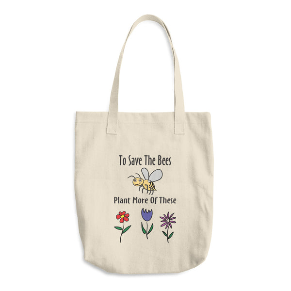 Save The Bees Reusable Cotton Tote Bag