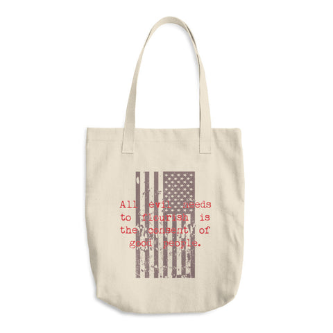 American Flag Reusable Americana Cotton Shopping Tote Bag