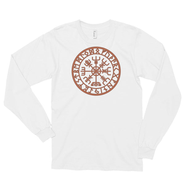 Rusty Icelandic Vegvisir - Long Sleeve T-Shirt (unisex)