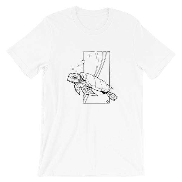 Sea Turtle by Dave Deitrick - Unisex Short Sleeve T-Shirt