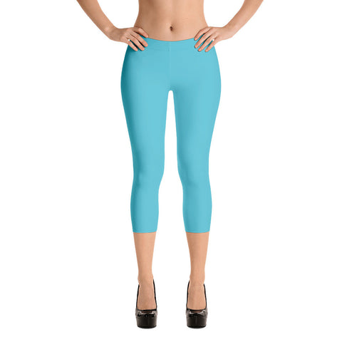 Turquoise Private Label Capri Leggings