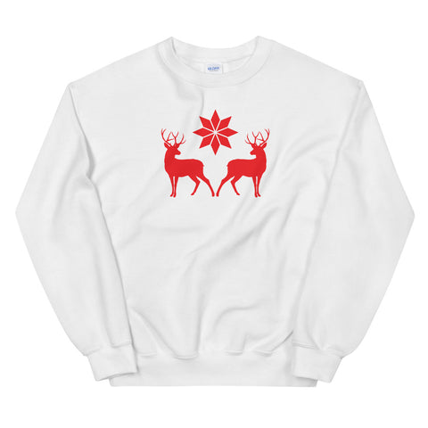 Nordic Style Deer And Star Sweatshirt (Unisex)