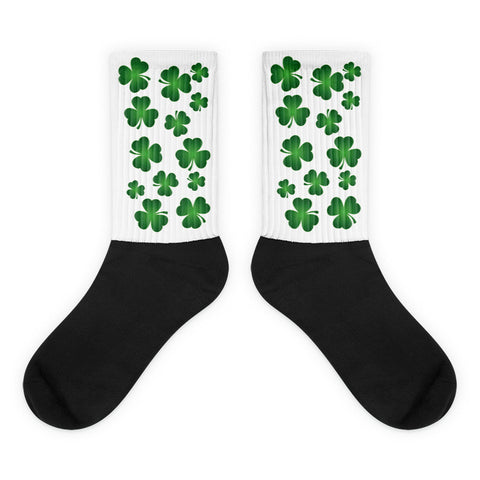 Shamrock - Black Foot Unisex Socks