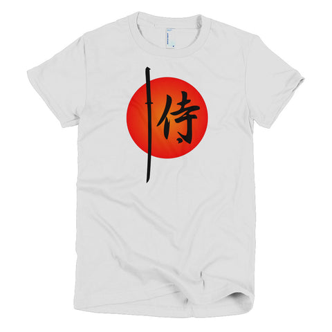Samurai Short Sleeve Women's Kanji Martial Arts T-Shirt