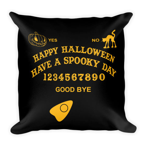 Ouija Board Halloween Throw Pillow
