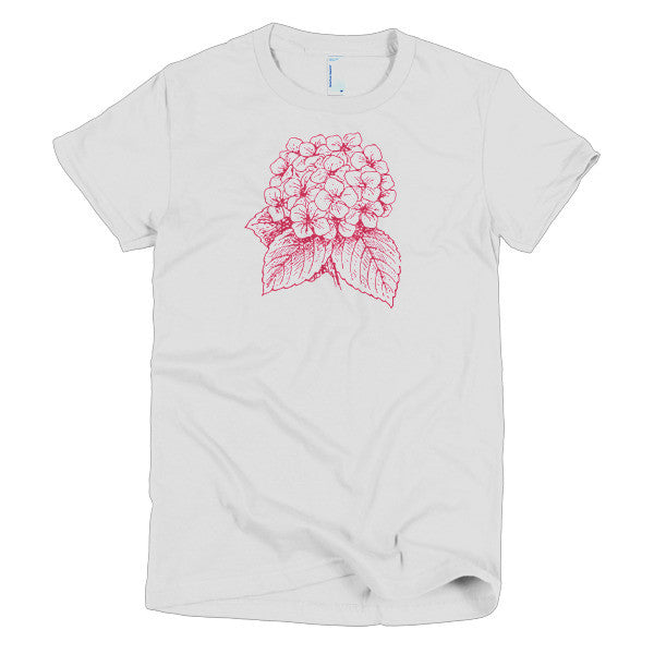 Hydrangea Short Sleeve Women's T-Shirt