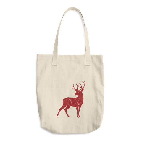 Red Stag of the Season Cotton Tote Bag