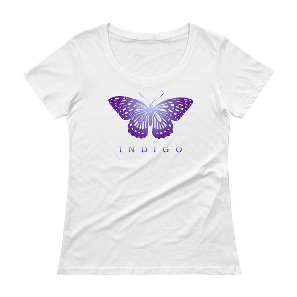 Indigo Butterfly - Ladies' Scoopneck T-Shirt