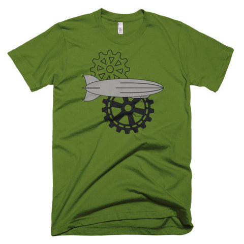 Cogs and Airships - Short Sleeve Men's Steampunk T-Shirt
