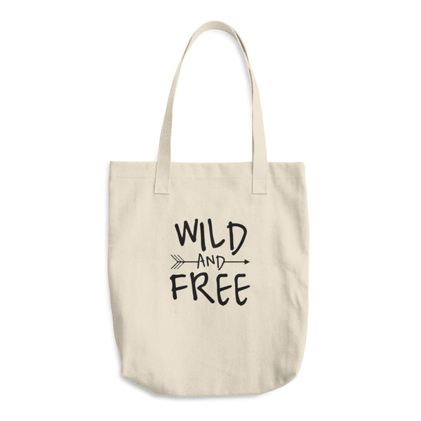 Wild And Free Reusable Cotton Shopping Tote Bag