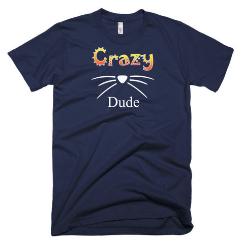 Crazy Cat Dude Cat Lovers Short Sleeve Men's T-Shirt