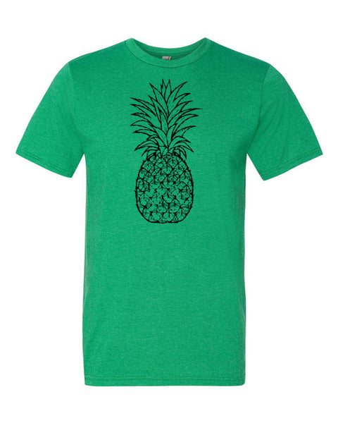 Pineapple Lovers Graphic Black Pineapple Art Men's Short Sleeve T-Shirt