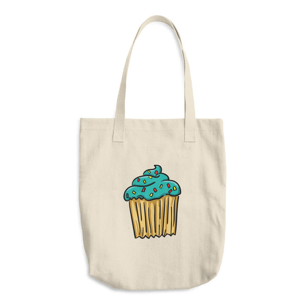 Blue Cupcake - Reusable Cotton Shopping Tote Bag