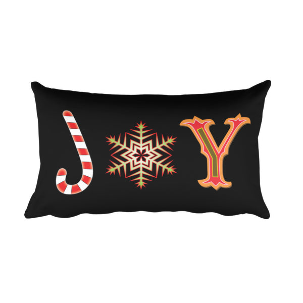 Joy - Rectangular Throw Pillow For The Holiday Season