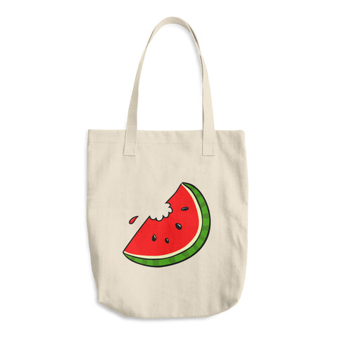 Juicy Watermelon Reusable Cotton Tote Bag