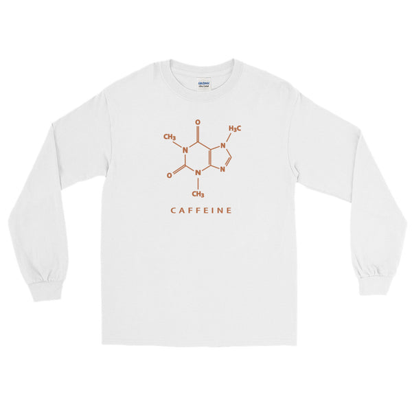 Coffee Chemistry Long Sleeve Geek T-Shirt (Unisex)