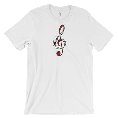 Treble Clef - Unisex Short Sleeve T-Shirt For Music Lovers