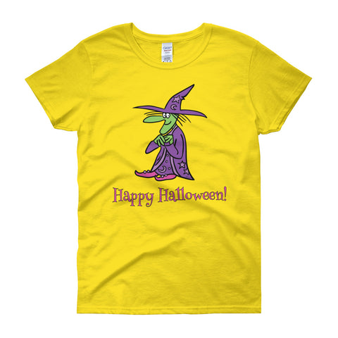 Agatha The Friendly Witch Women's Short Sleeve Halloween T-Shirt