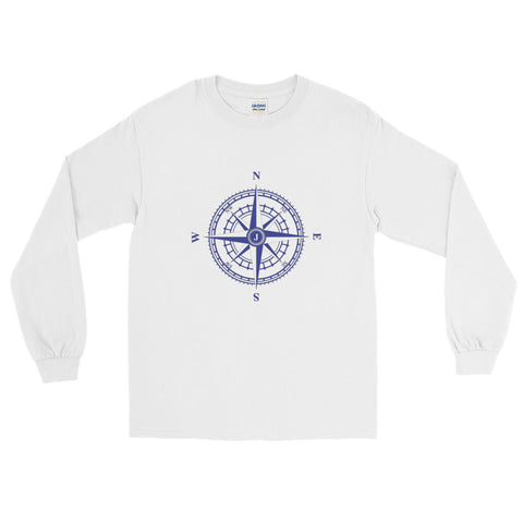 Compass Rose Nautical Long Sleeve Sailing T-Shirt (Unisex)