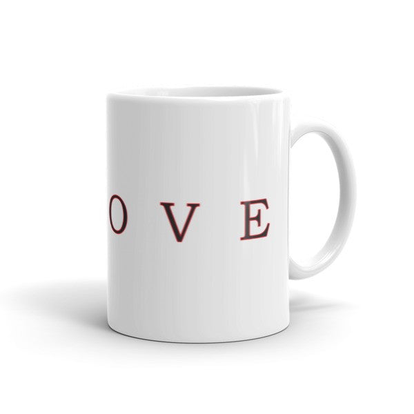 Kanji Love Black And Red Brush Strokes Mug