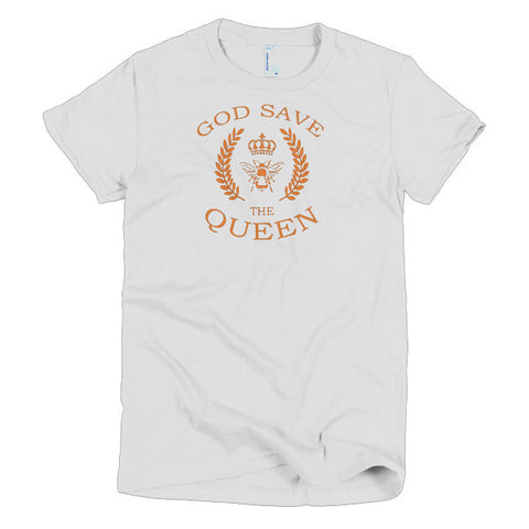 God Save The Queen Bee Lovers Short Sleeve Women's T-Shirt