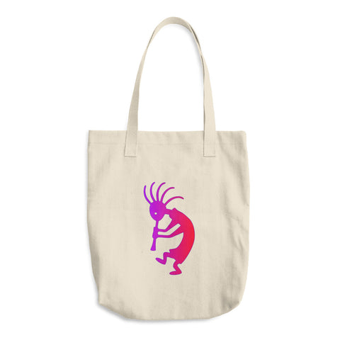 Kokopelli Southwestern Art Resusable Cotton Tote Bag