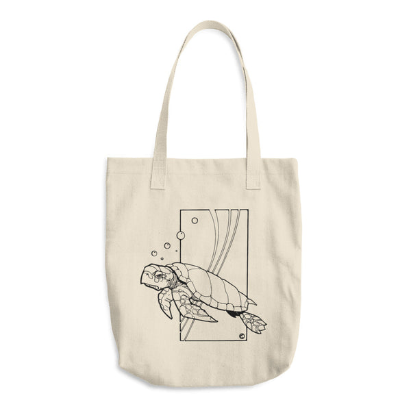 Sea Turtle by Dave Deitrick - Reusable Cotton Shopping Tote Bag