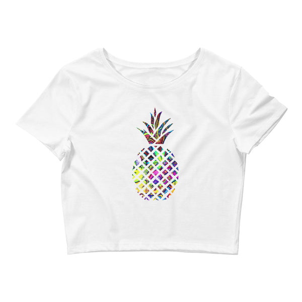 Psychedelic Pineapple Ladies' Cropped T-Shirt