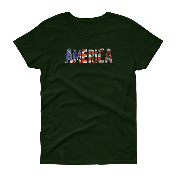 America Ladies' Patriotic Americana T-Shirt