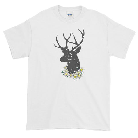 Edelweiss And Deer Man's Oktoberfest Short Sleeve T-Shirt