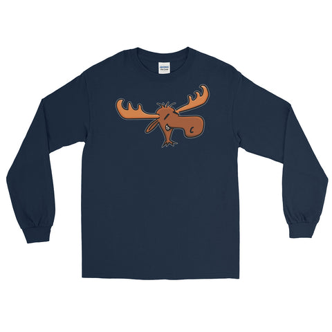 Funny Moose Long Sleeve Unisex T-Shirt