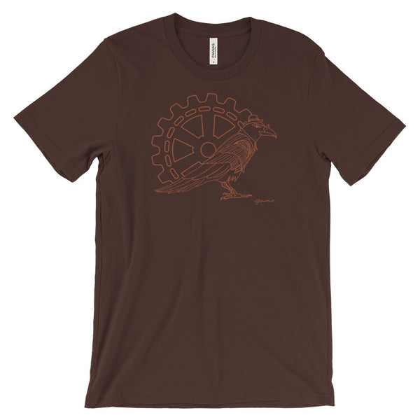 Steampunk Raven Boss - Unisex Short Sleeve T-Shirt