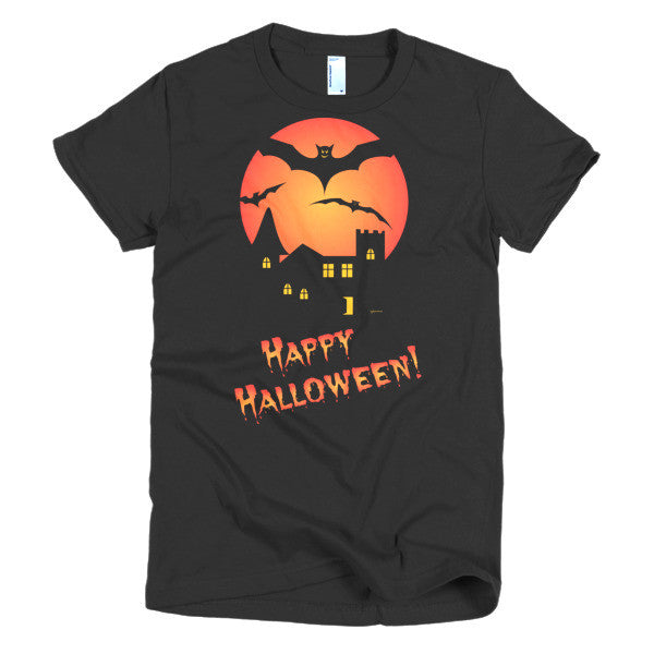 Happy Halloween - Spooky Mansion Women's Short Sleeve T-Shirt